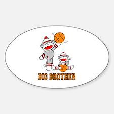 Basketball Monkey Big Brother Oval Decal