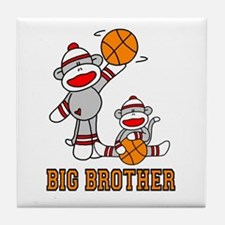 Basketball Monkey Big Brother Tile Coaster