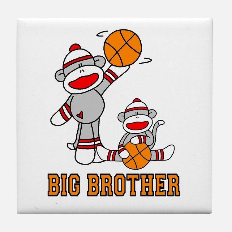 Basketball Monkey Big Brother Tile Coaster