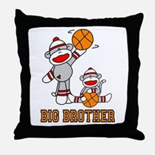 Basketball Monkey Big Brother Throw Pillow