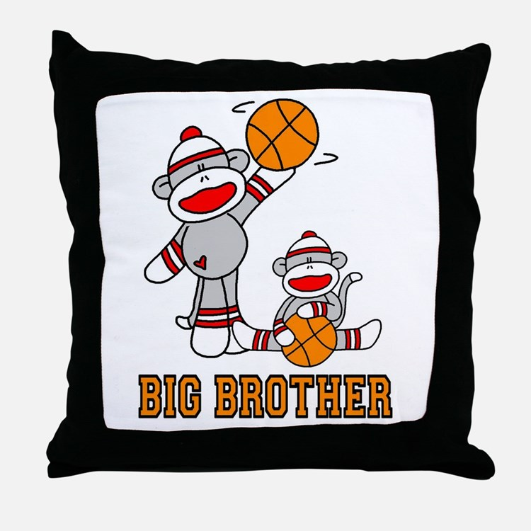 Basketball Monkey Big Brother Throw Pillow