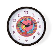 Groovy Girly Clock