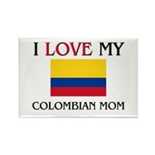 I Love My Colombian Mom Rectangle Magnet