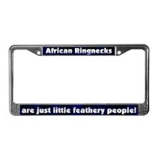 Feathery Ppl African Ringneck License Plate Frame