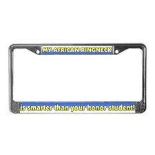 Honor Student African Ringneck License Plate Frame