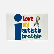 I Love My Autistic Brother 1 Rectangle Magnet (10