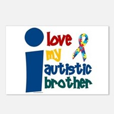 I Love My Autistic Brother 1 Postcards (Package of