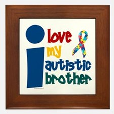 I Love My Autistic Brother 1 Framed Tile
