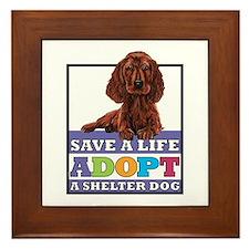 Adopt a Setter Framed Tile