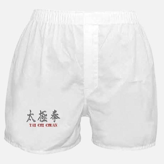 Vintage Tai Chi Calligraphy Boxer Shorts