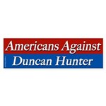 Americans Against Duncan Hunter sticker