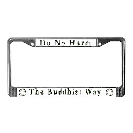 Sitting Buddha License Plate Frame