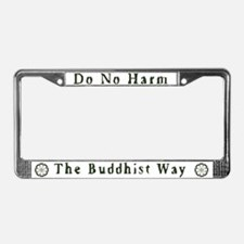 Sitting Buddha License Plate Frame