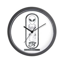 Alien-Egyptian Cartouche 2 Wall Clock