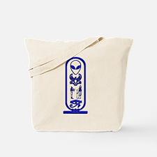 Alien-Egyptian Cartouche 9 Tote Bag