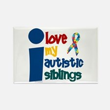 I Love My Autistic Siblings 1 Rectangle Magnet (10