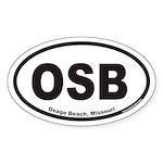 Osage Beach OSB Euro Oval Sticker