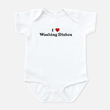 I Love Washing Dishes Infant Bodysuit