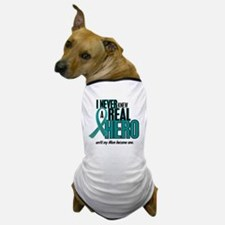 Never Knew A Hero 2 Teal (Mom) Dog T-Shirt