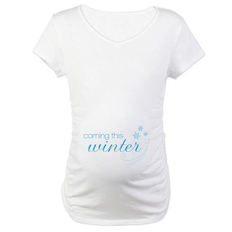 Seasons (Winter) Maternity T-Shirt Wht