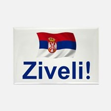 Serbia Ziveli Rectangle Magnet