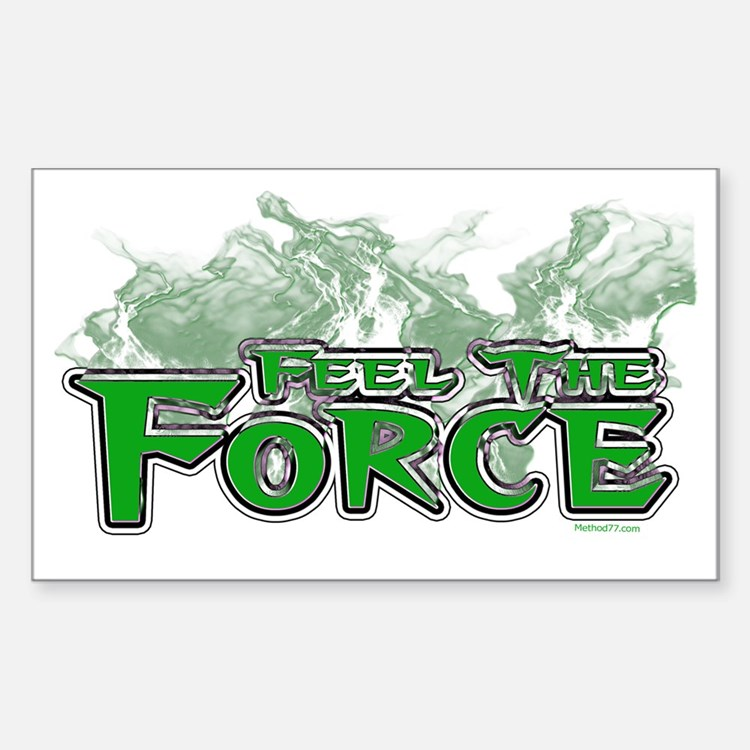 Feel The Force Rectangle Decal