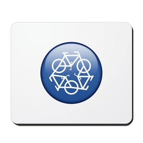 Recycle Bicycle Blue Mousepad