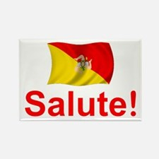 Sicily Salute Rectangle Magnet