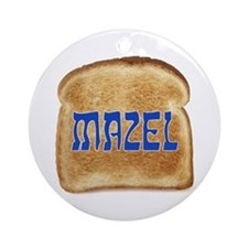 Mazel Toast Ornament (Round)