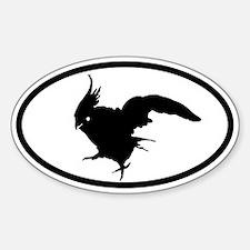 Cockatiel Oval Decal