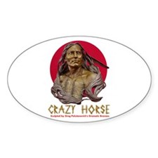 Crazy Horse Oval Decal