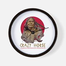 Crazy Horse Wall Clock