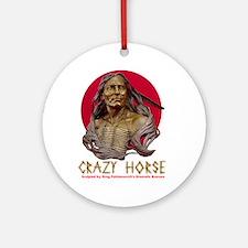 Crazy Horse Ornament (Round)