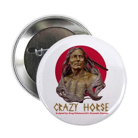 """Crazy Horse 2.25"""" Button (10 pack)"""