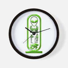 Alien-Egyptian Cartouche 6 Wall Clock