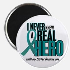 """Never Knew A Hero 2 Teal (Sister) 2.25"""" Magnet (10"""