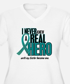 Never Knew A Hero 2 Teal (Sister) T-Shirt