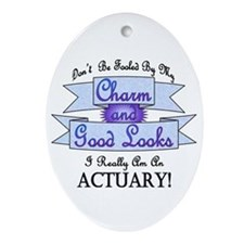 Actuary Really Oval Ornament