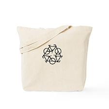 Recycle Bicycle Plain Tote Bag