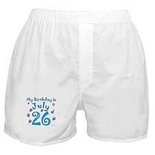 July 26th Birthday Boxer Shorts
