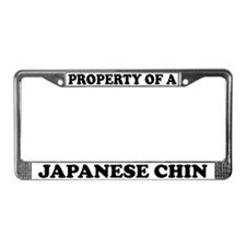 Property Of A Japanese Chin License Plate Frame