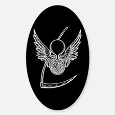 Scythe of Life 2 Oval Decal