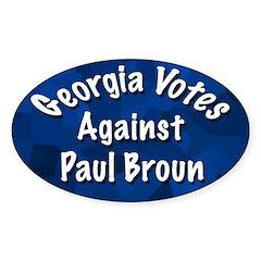 Georgia Votes Against Paul Broun sticker