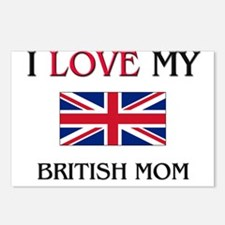 I Love My British Mom Postcards (Package of 8)