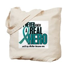 Never Knew A Hero 2 Teal (Mother) Tote Bag