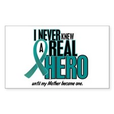 Never Knew A Hero 2 Teal (Mother) Decal