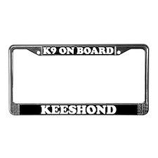 K9 On Board Keeshond License Plate Frame