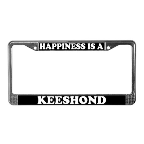 Happiness Is A Keeshond License Plate Frame