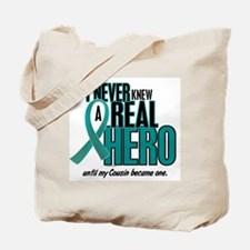 Never Knew A Hero 2 Teal (Cousin) Tote Bag