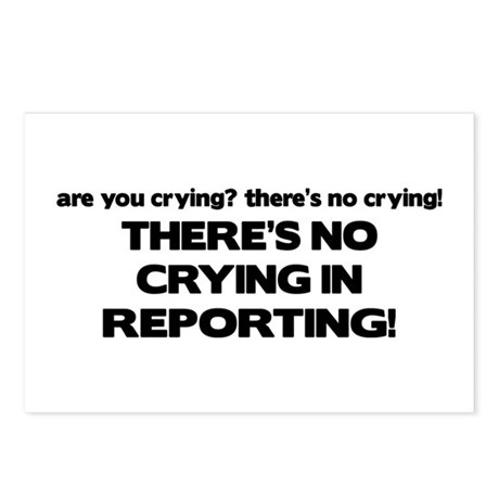 There's No Crying Reporting Postcards (Package of